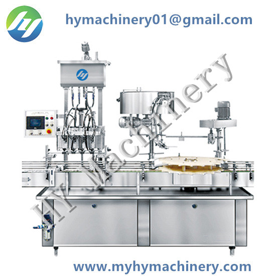 Inline Filling Star Wheel Capping Machine