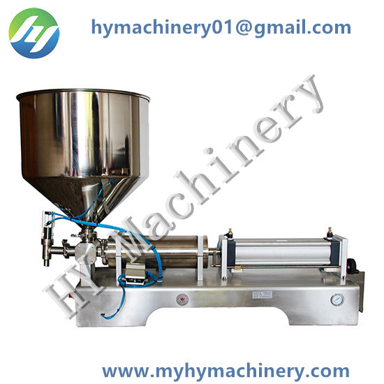 Semi Automatic Single Head Pneumatic Piston Paste Filling Machine