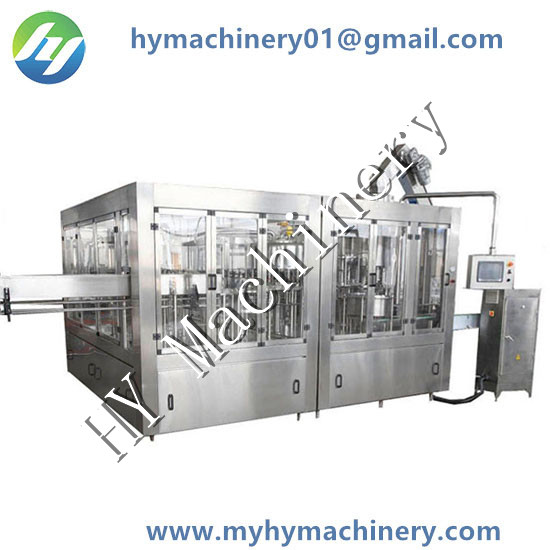 Automatic Mineral Water PET Bottle Rinsing Filling Capping Three in One Machine