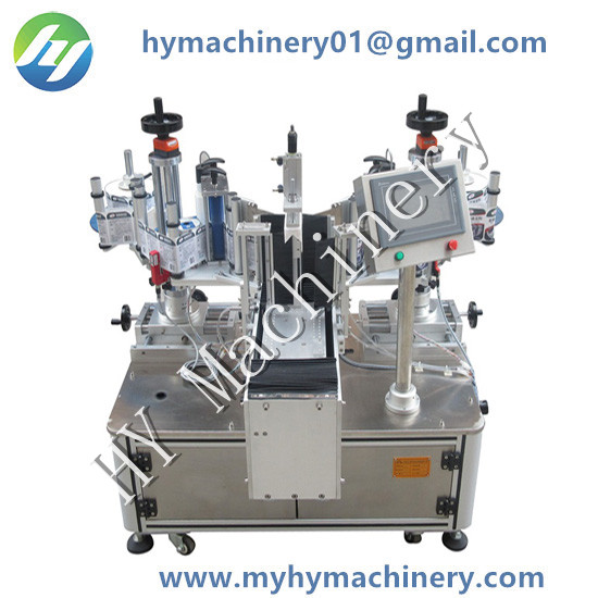 Semi Automatic Front and Backside Non-dry Adhesive Sticker Bottle Labeling Machine