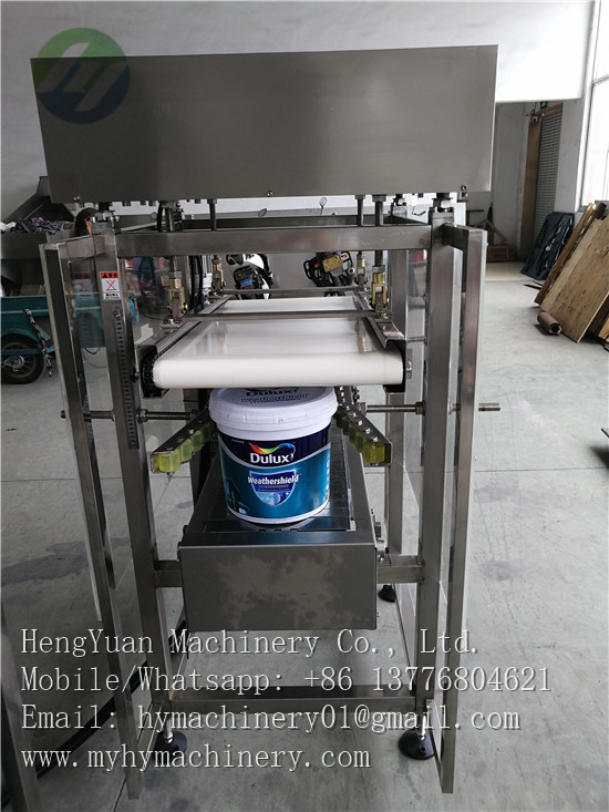 Manual Putting Caps Automatic Pail Lid Pressing Capping Machine