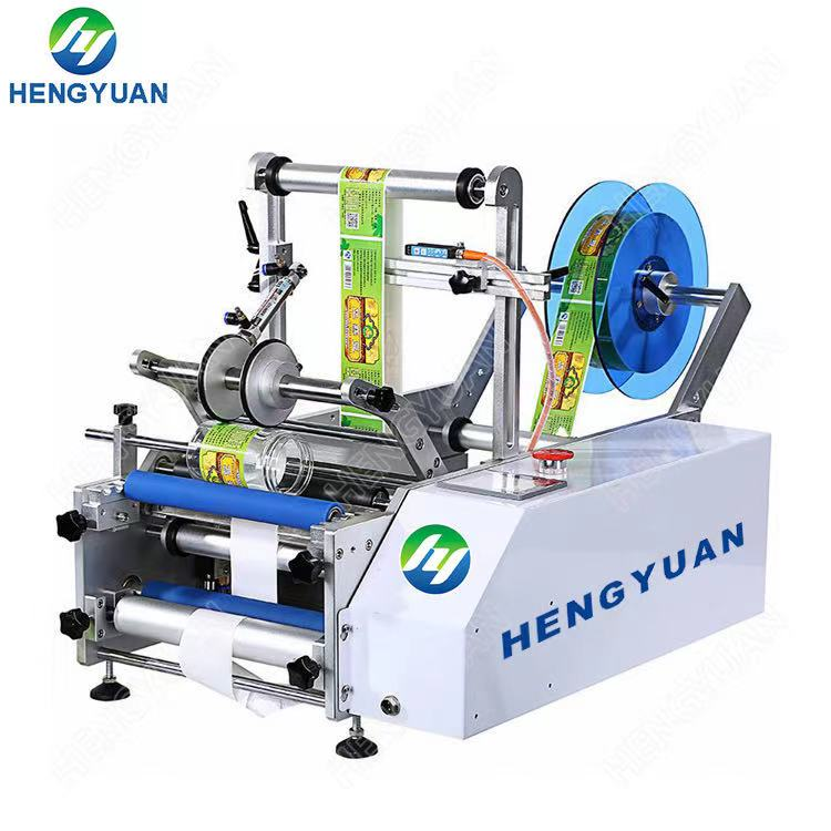 Semi-automatic Round Bottle Sticker High-accuracy Labeling Machine