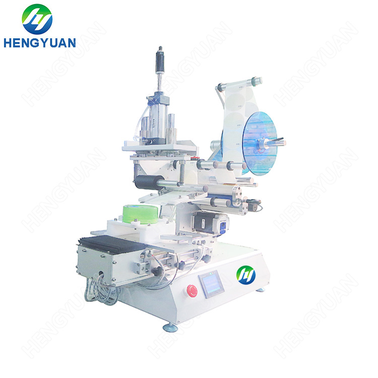 Semi-automatic Rolling Type Top Side Plane Labeling Machine