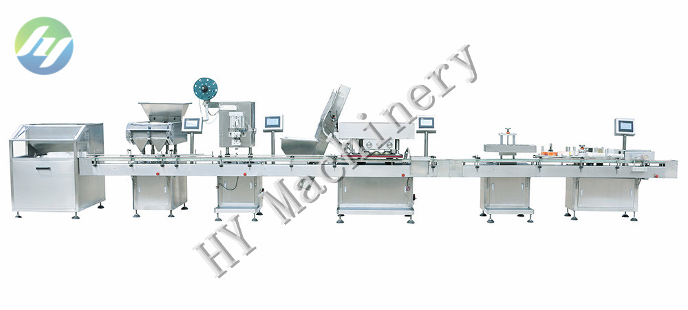 automatic electronic medicine tablets counting filling machine line