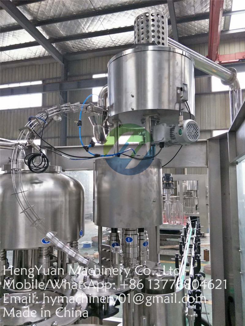 mineral drinking water three in one washing filling capping machine