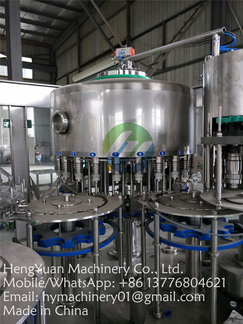 automatic drinking water pet bottle risining filling capping machine