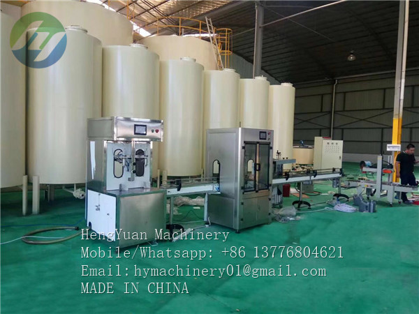 semi automatic motor oil filling capping machine line