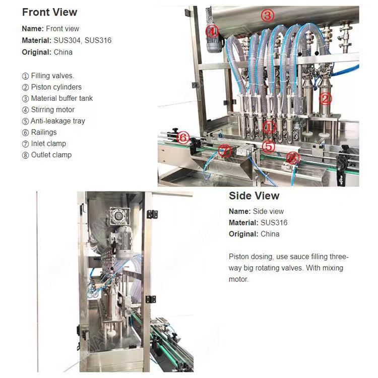 Automatic soybean sauce filling machine